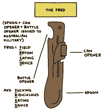 field ration eating device